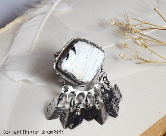 Cave Lady White Buff ring