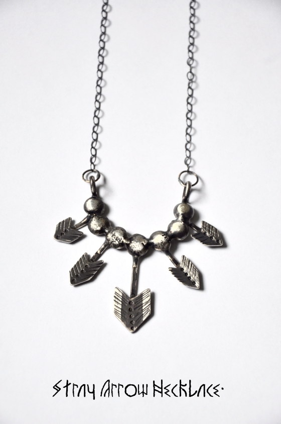 Stray Arrow Necklace.