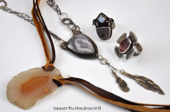 Agate jewelry group