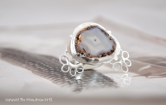 Lace agate ring in works